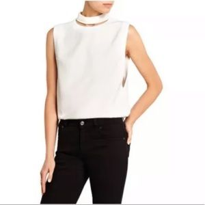 New TOM FORD Cutout Stretch Crepe Blouse Top 46